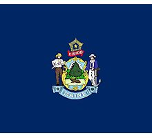 Maine State Flag T-Shirt Portland Sticker Bedspread Duvet Photographic Print