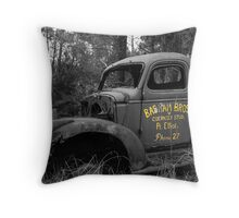 Bashams old truck Throw Pillow