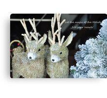 Reindeer games! Canvas Print