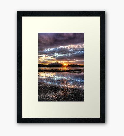Willow Lake Blues Framed Print