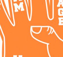 Orange Foam Finger Sticker