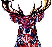 "Ornate Deer Big Brother ""AUSTIN SUCKS"" Alternate Design by PrettyStuff"