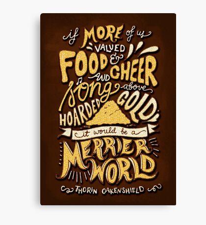 Food Cheer and Song Canvas Print