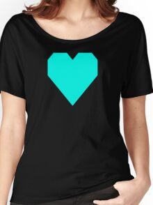 Turquoise Blue Women's Relaxed Fit T-Shirt