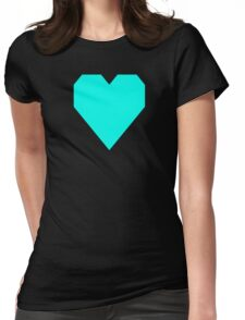 Turquoise Blue Womens Fitted T-Shirt
