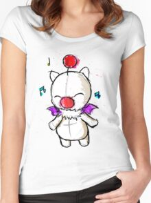 Watercolour Moogle Women's Fitted Scoop T-Shirt