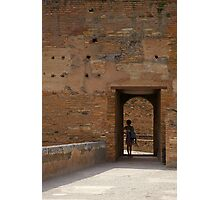 Woman in a Doorway Photographic Print