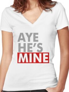 Aye Hes Mine Women's Fitted V-Neck T-Shirt