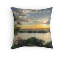 Sunset On The Bend - Talem Bend, The River Murray, SA Throw Pillow