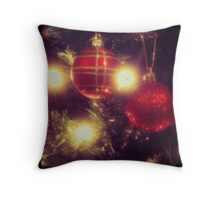 Christmas baubles TTV style Throw Pillow