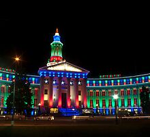Denver's Courthouse lit up for the holidays by Paul Gana