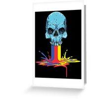 Primary Coloured Scream Greeting Card