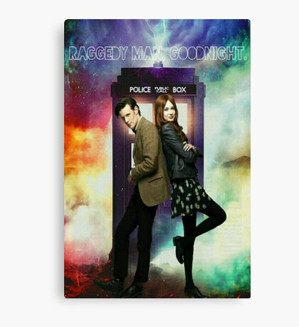 11th Doctor and Amelia Pond Canvas Print