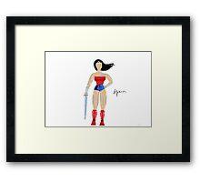 Mosaic superhero Framed Print