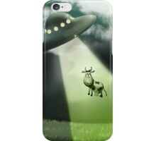 Comical Cow Abduction iPhone Case/Skin