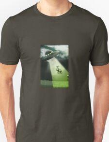 Comical Cow Abduction Unisex T-Shirt