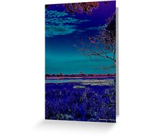 Landscape in Blue Greeting Card