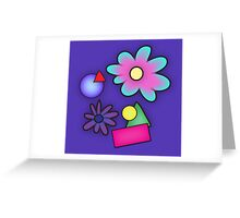 RETRO-Vibrant 80s Abstract Shapes & Flowers Greeting Card