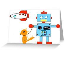 Robot Dino Rocket Remix Greeting Card