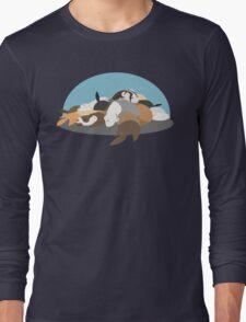 Sleeping Slinkies Long Sleeve T-Shirt