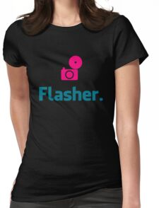 Flasher Photographer Womens Fitted T-Shirt
