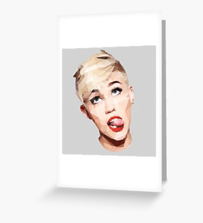 Miley Best Angles Greeting Card