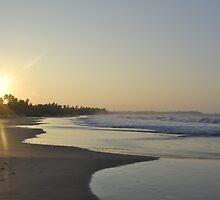 Hikkaduwa Beach Sunset by Hiran Maddumage