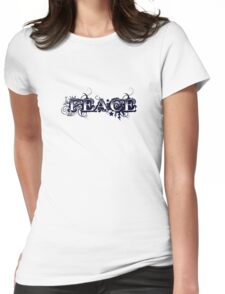 PEACE Womens Fitted T-Shirt