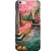 Cherry Tree and Tranquil Waters iPhone Case/Skin