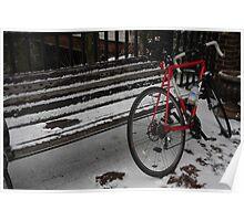 Biking in the Snow Poster