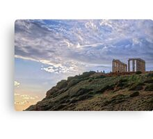Cape Sounion - The Temple Canvas Print