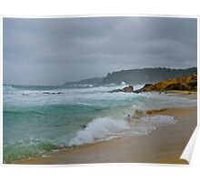 Stormy seas, Bermagui, NSW. Poster