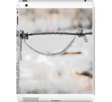 barbwire and frost iPad Case/Skin