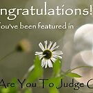 Challenge banner - Who are you to judge group by Edge-of-dreams