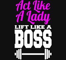 Act Like A Lady Lift Like A Boss  Womens Fitted T-Shirt