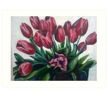 Tulips for Eve Art Print