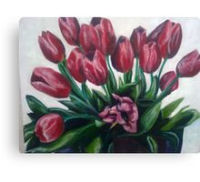 Tulips for Eve Canvas Print