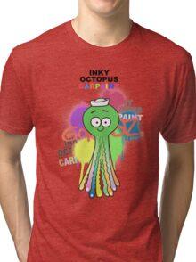 Gorillaz - Inky Octopus Car Paint Tri-blend T-Shirt