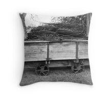 Old Cart Throw Pillow