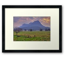 Night Fall - Capertee Valley Central NSW, Australia - The HDR Experience Framed Print