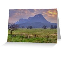 Night Fall - Capertee Valley Central NSW, Australia - The HDR Experience Greeting Card