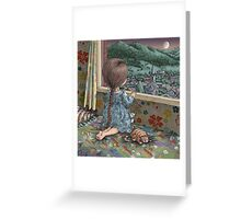 goodnight moon, goodnight stars, goodnight venus, goodnight mars Greeting Card