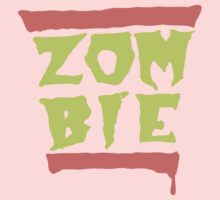 Run Zombies! On Pink/Purple by monkdxiii
