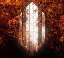 Intervoid Orange Crumpled Logo by Visceral Creations