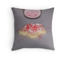 Red Sprinkles With Frosting Throw Pillow