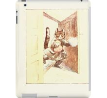 The Tailor of Gloucester Beatrix Potter 1903 0045 Cat With Cream iPad Case/Skin