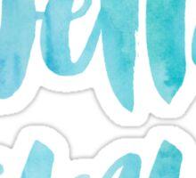 Delta Gamma Blue Watercolor Sticker