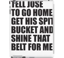 Conor McGregor - Quotes [Spit Bucket] iPad Case/Skin