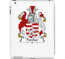 Coat of arms (family crest) for last-name or surname Porcher . Heraldry banner for your name. iPad Case/Skin