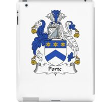 Coat of arms (family crest) for last-name or surname Port (e) . Heraldry banner for your name. iPad Case/Skin